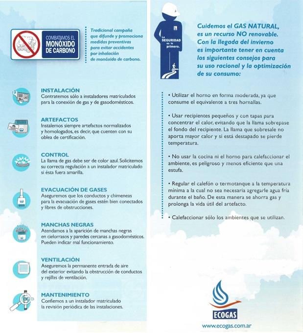 Consejos de seguridad for Oficina gas natural
